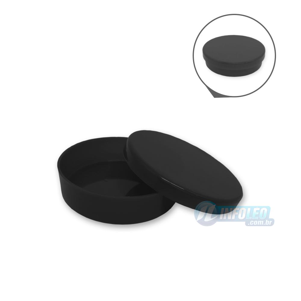 Latinha Plástico Preta 5,5x1,5cm - 10 unidades