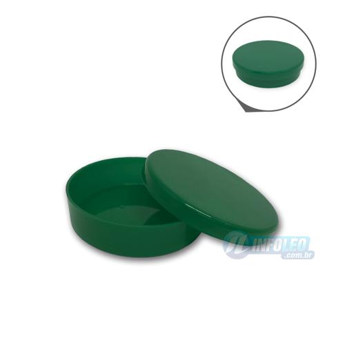 Latinha Plástico Verde Bandeira 5,5x1,5cm - 10 unidades
