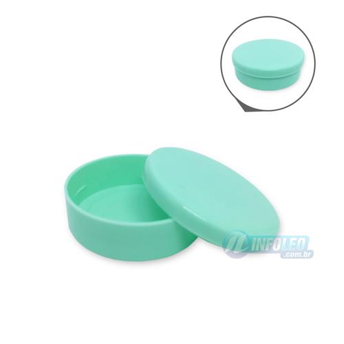 Latinha Plástico Verde Bebê 5,5x1,5cm - 10 unidades