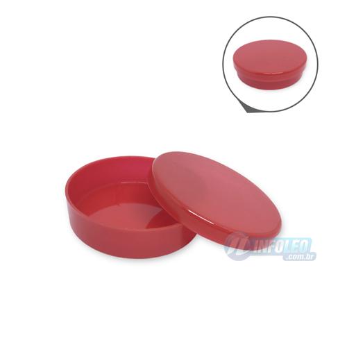 Latinha Plástico Vermelha 5,5x1,5cm - 10 unidades