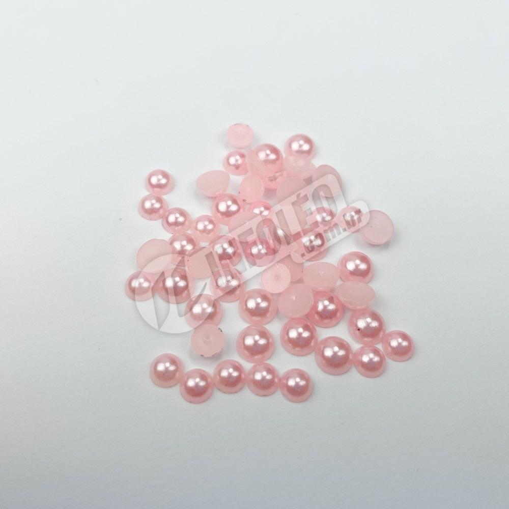 Meia Perola Rosa 5mm 10 gramas