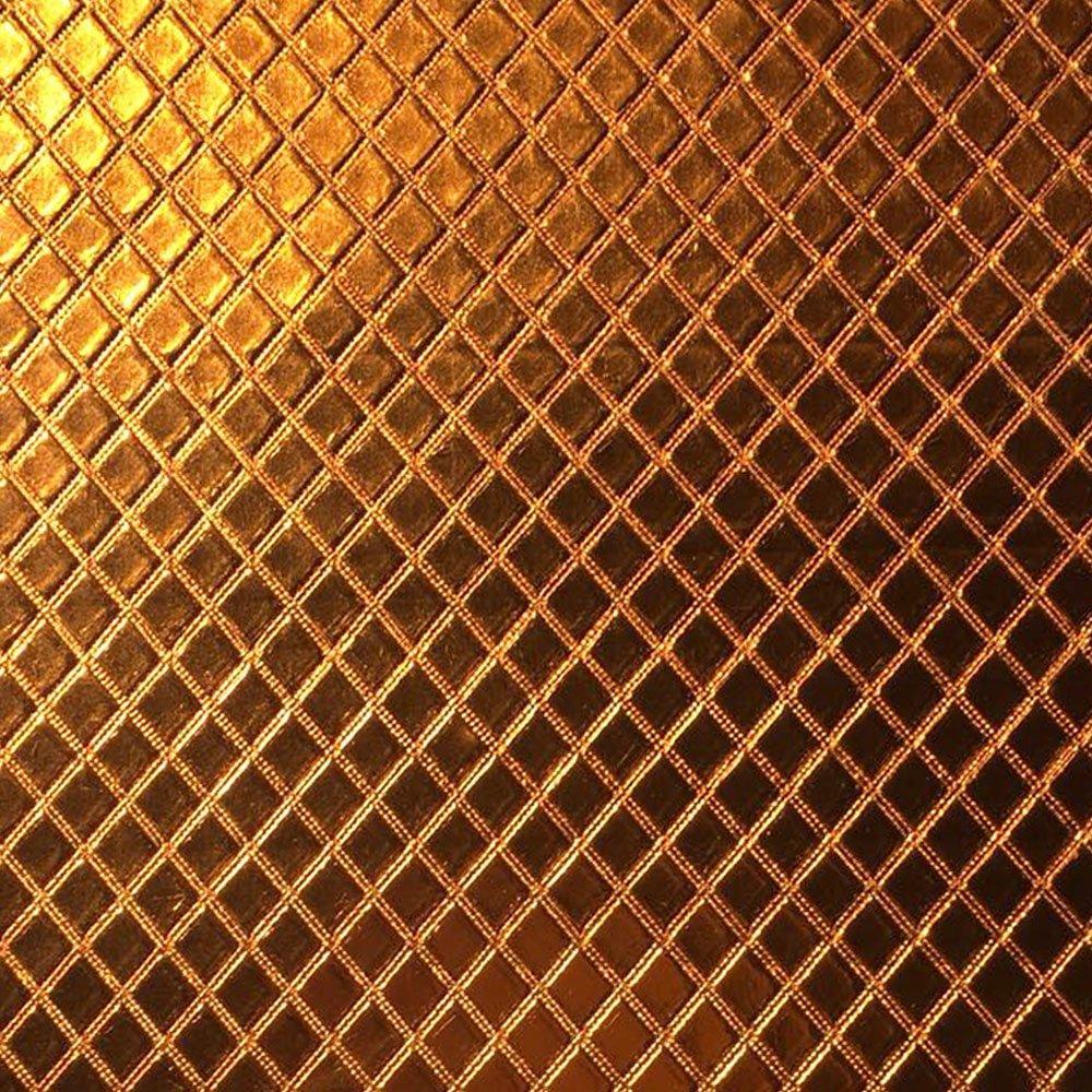 Metalassê PU Laranja Cobre C/ Textura Festa 31x43cm - 0061 - Unidade