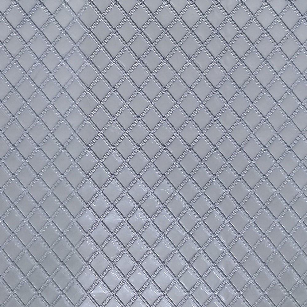 Metalassê PU Prata C/ Textura Festa 31x43cm - 0002 - Unidade