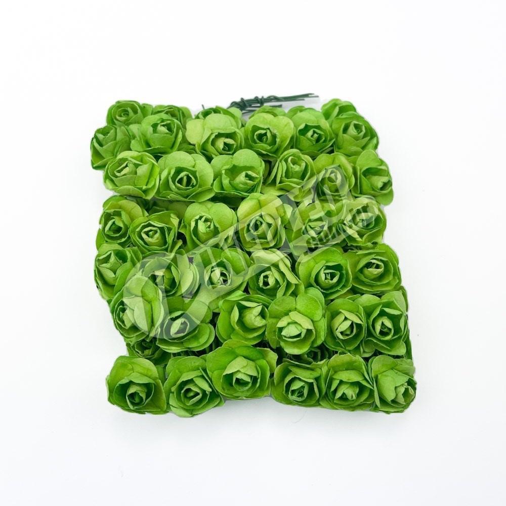 Mini Flor de Papel Verde Buenos Aires - 72 unidades