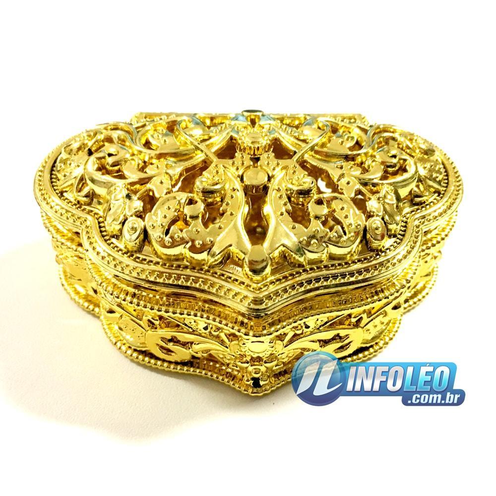 Mini Porta-Jóias Triângulo Dourado 9x6,5x4cm - UN