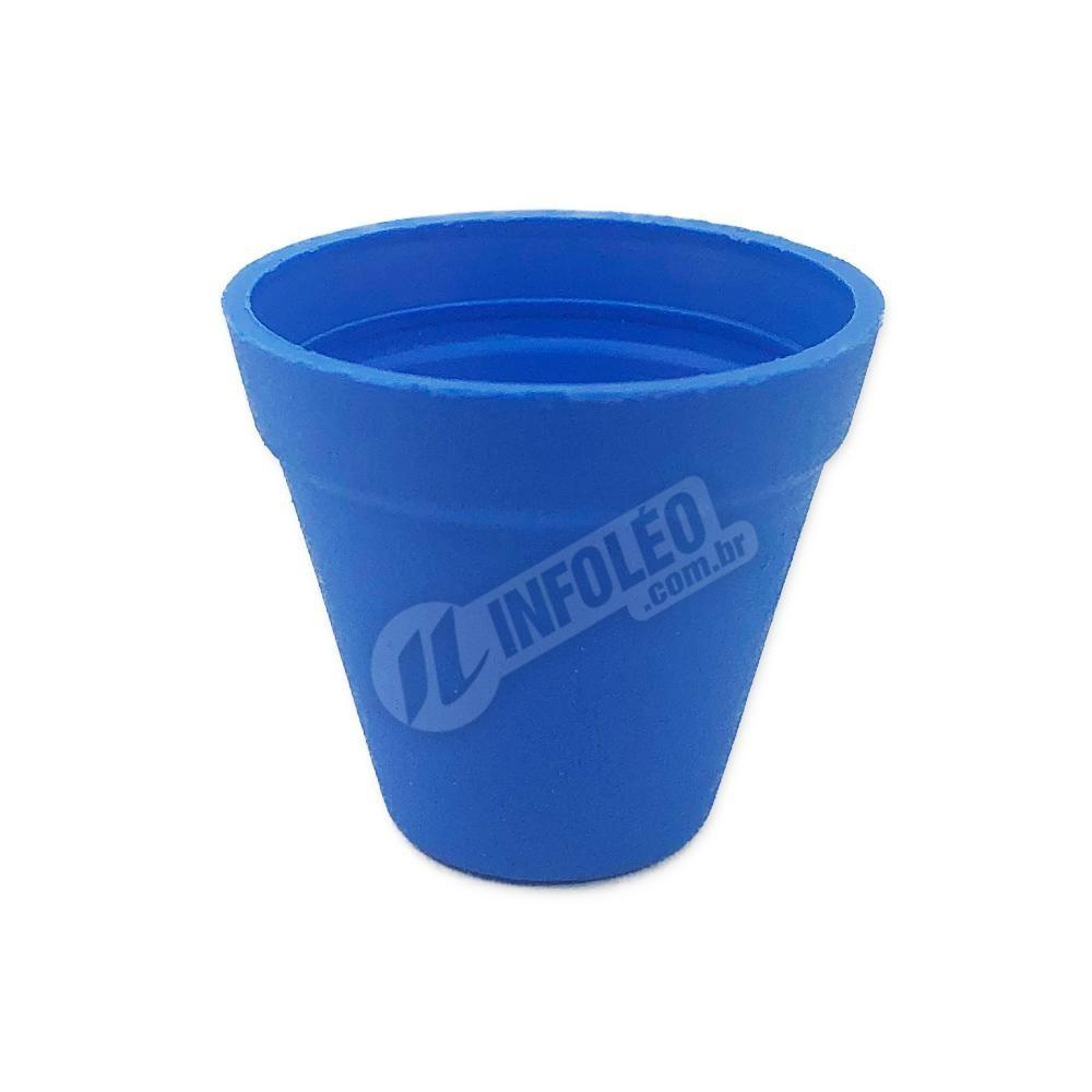 Mini Vaso Redondo Plástico 3x3,5cm Azul Royal
