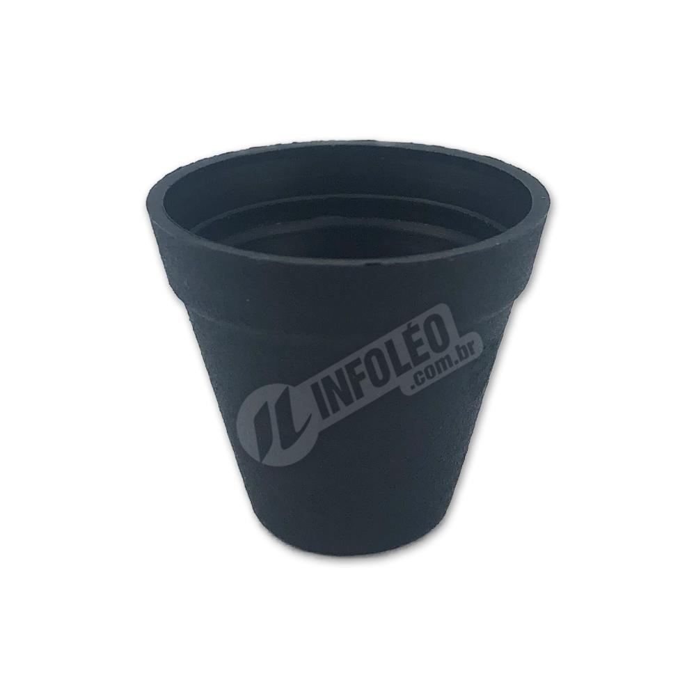 Mini Vaso Redondo Plástico 3x3,5cm Preto