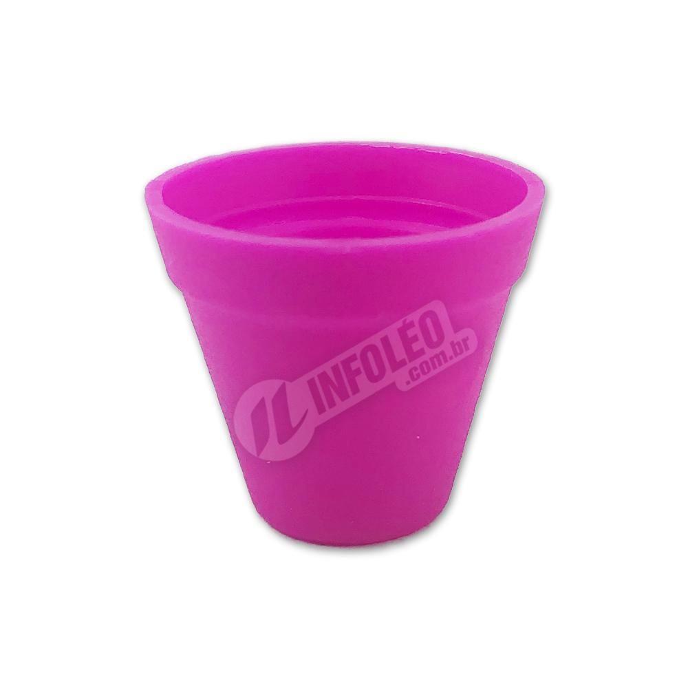 Mini Vaso Redondo Plástico 3x3,5cm Rosa Pink