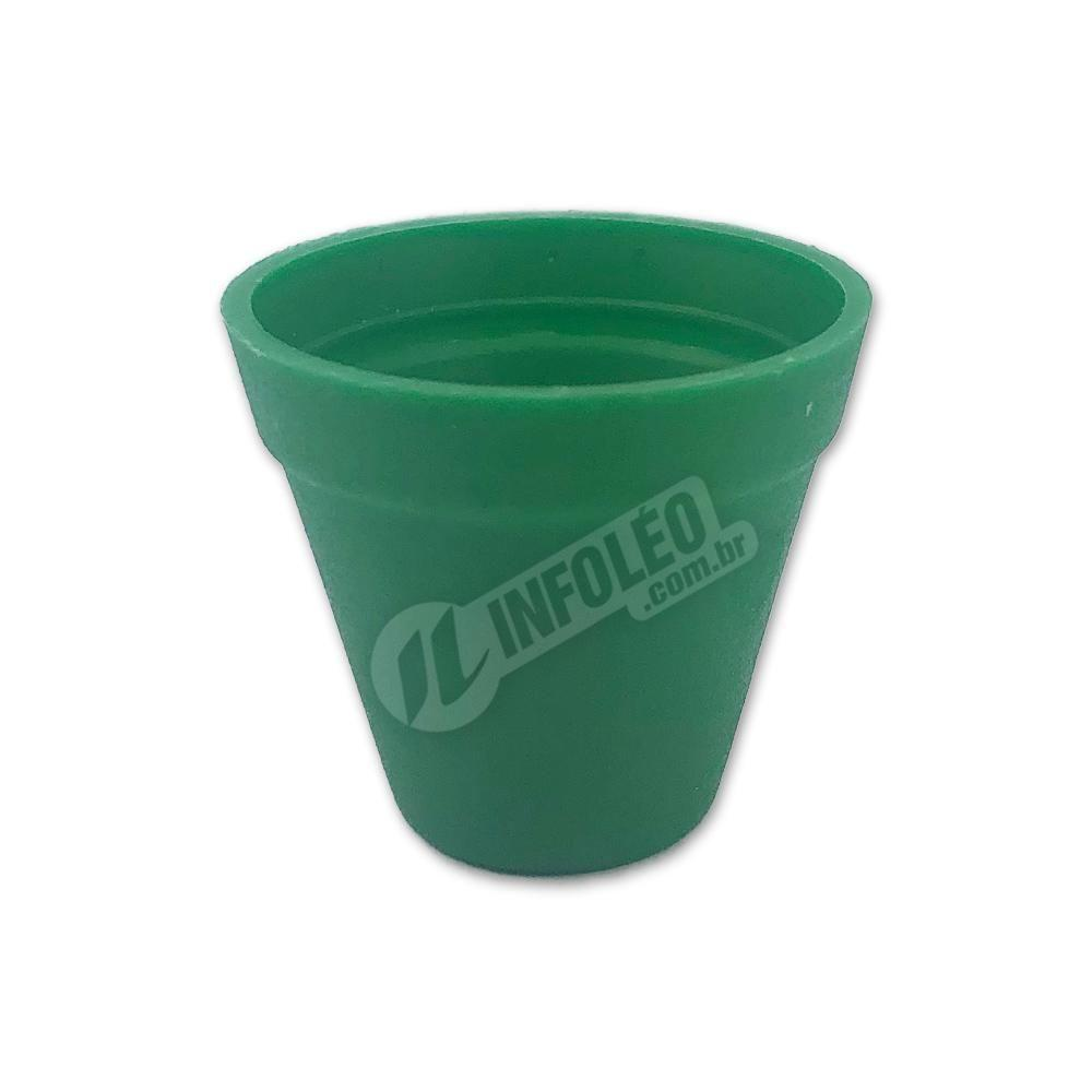 Mini Vaso Redondo Plástico 3x3,5cm Verde Bandeira