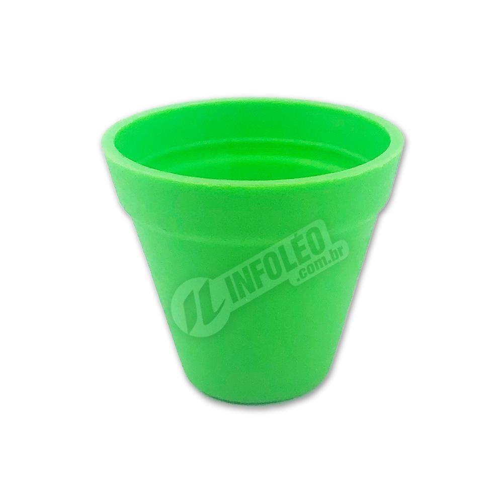 Mini Vaso Redondo Plástico 3x3,5cm Verde Limão