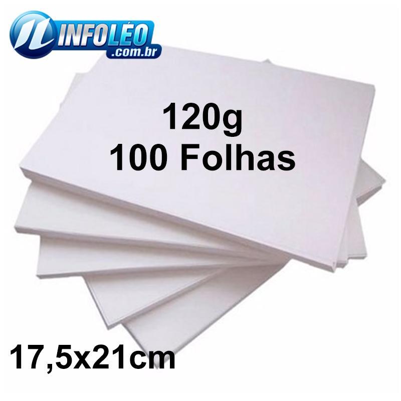 Miolo Letícia 120G 17,5x21cm Branco - 100 Folhas