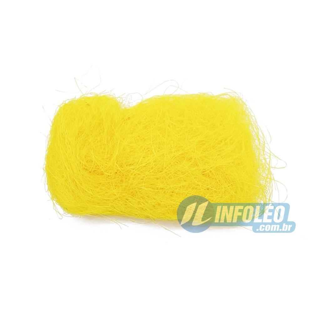 Ninho Decorativo Amarelo 50g - Unidade