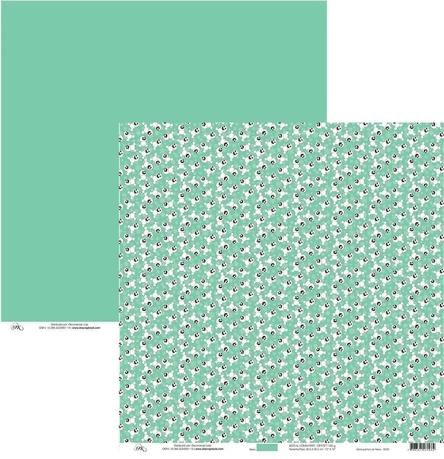 Papel Bonequinhos de Neve (Frozen 2) Okscrapbook - 7949