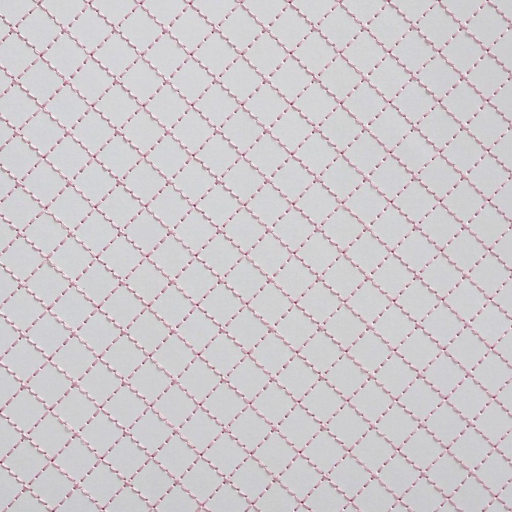 Papel Bordado Linha Rosa em Papel Branco 30x30cm 240g - 0002