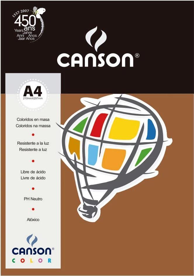 Papel Canson A4 Chocolate 180 gramas 10 folhas