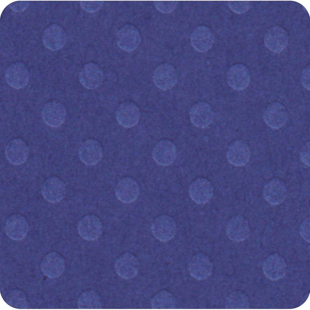 Papel Cardstock Bolinhas II Azul Médio Toke e Crie - 19657 - PCAR481