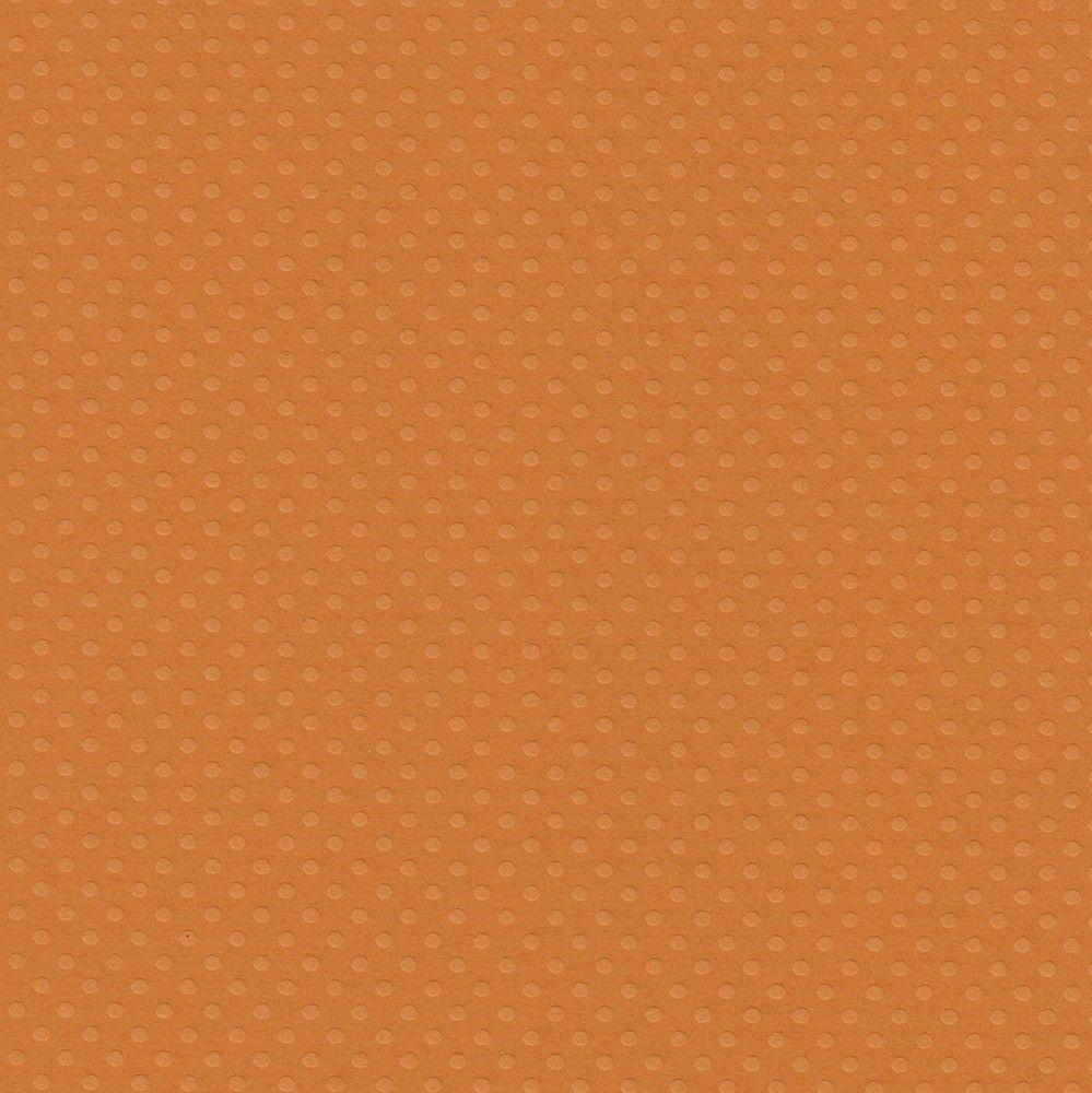 Papel Cardstock Bolinhas II Laranja Toke e Crie - 20068 - PCAR497