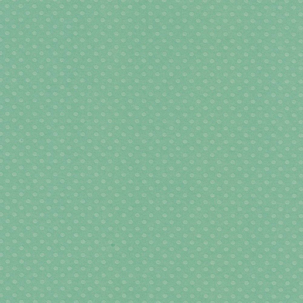 Papel Cardstock Bolinhas II Verde Gelo Toke e Crie - 20063 - PCAR492