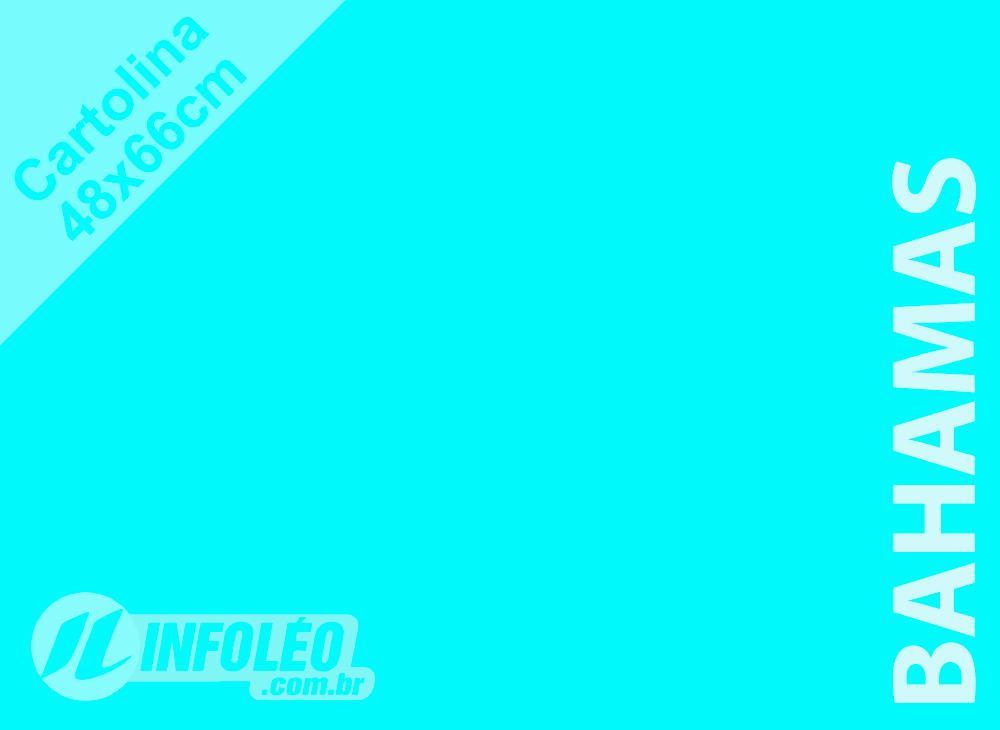 Papel Cartolina Bahamas Color Plus 48x66cm 180 gramas (Apenas Motoboy)
