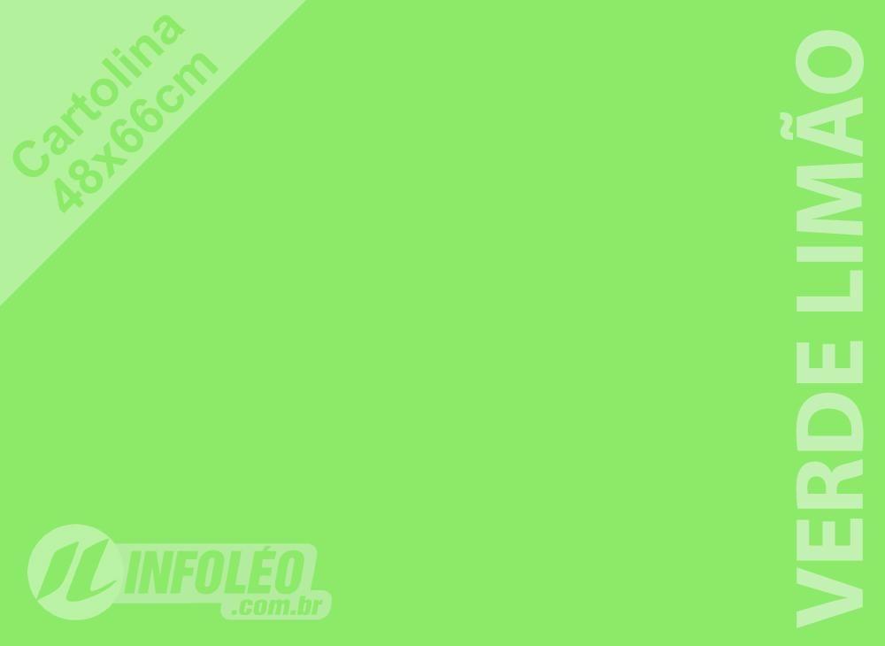 Papel Cartolina Verde Limão Candy Color Plus 48x66cm 180 gramas (Apenas Motoboy)