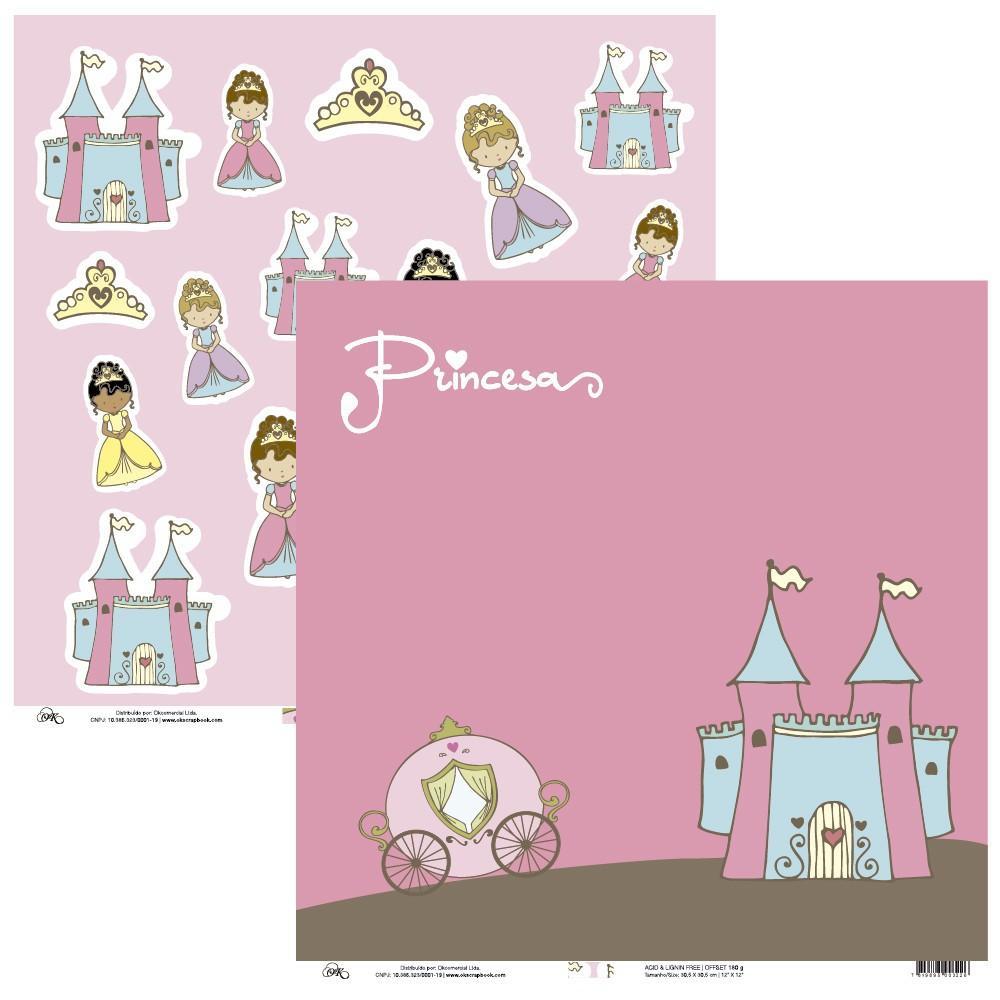 Papel Castelo e Princesas Okscrapbook - 9101
