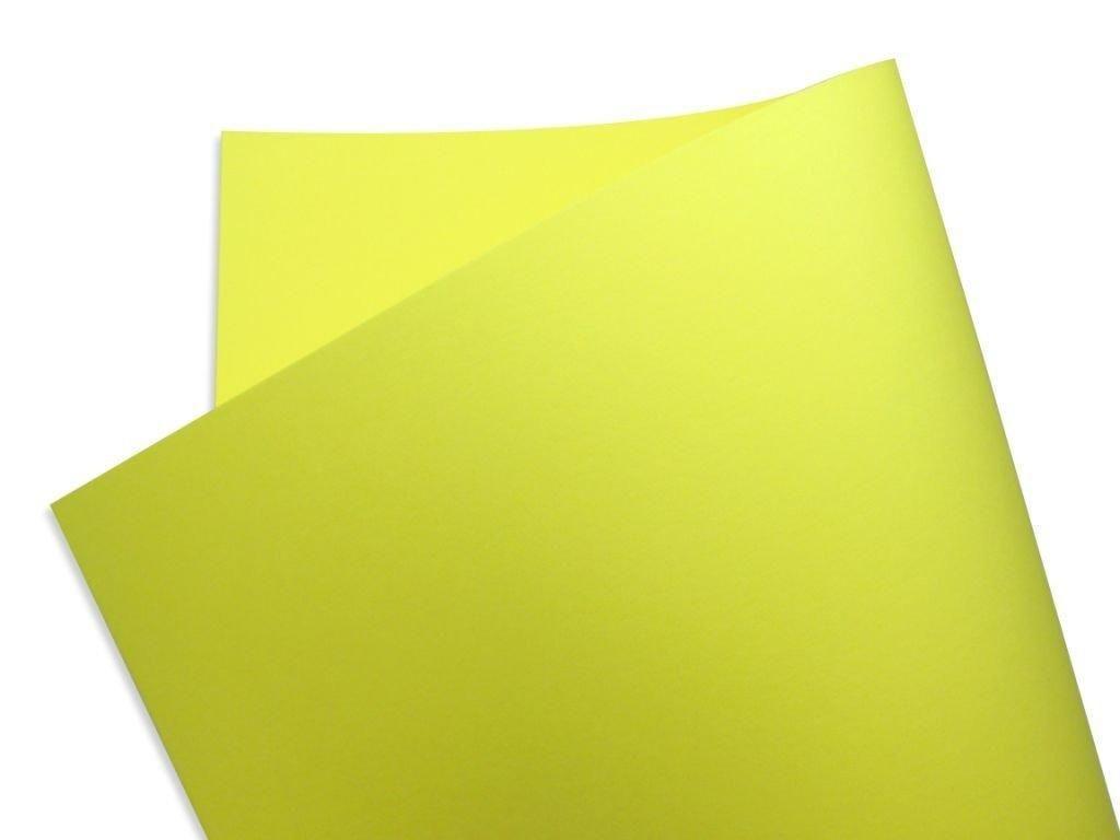 Papel Color Fluo Amarelo (Yellow) 30x30cm 180 gramas - Unidade
