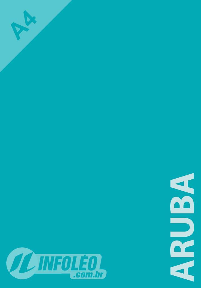 Papel Color Plus A4 180 gramas Aruba (Azul Tiffany)