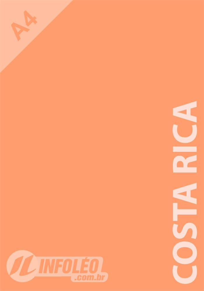 Papel Color Plus A4 180 gramas Costa Rica (Coral)