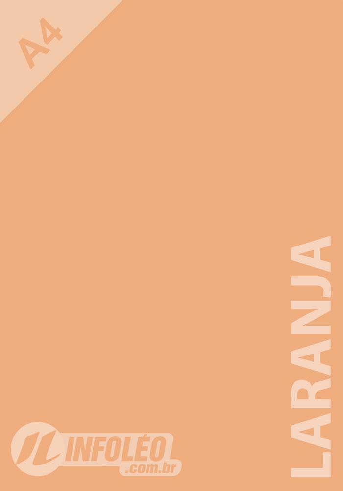 Papel Color Plus A4 180 gramas Laranja Candy