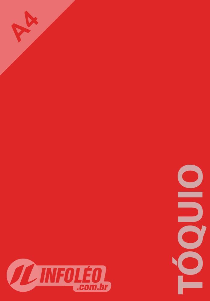 Papel Color Plus A4 180 gramas Tóquio (Vermelho)