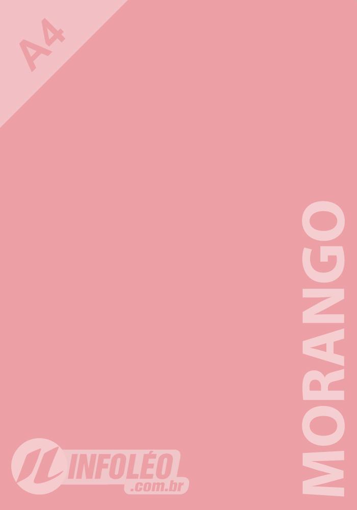 Papel Color Plus A4 180g Morango Candy