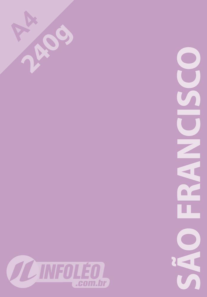 Papel Color Plus A4 240 gramas São Francisco (Lilás)