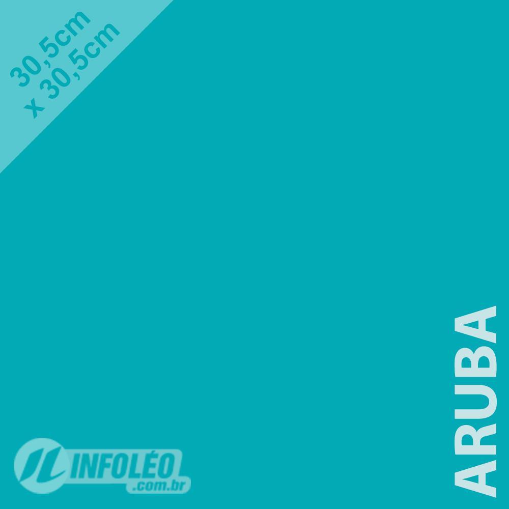 Papel Color Plus Aruba (Azul Tiffany) 30x30 180 gramas - Unidade