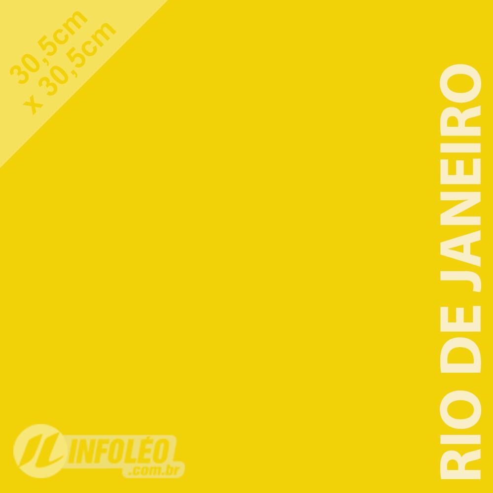 Papel Color Plus Rio de Janeiro (Amarelo) 30x30 180 gramas - Unidade