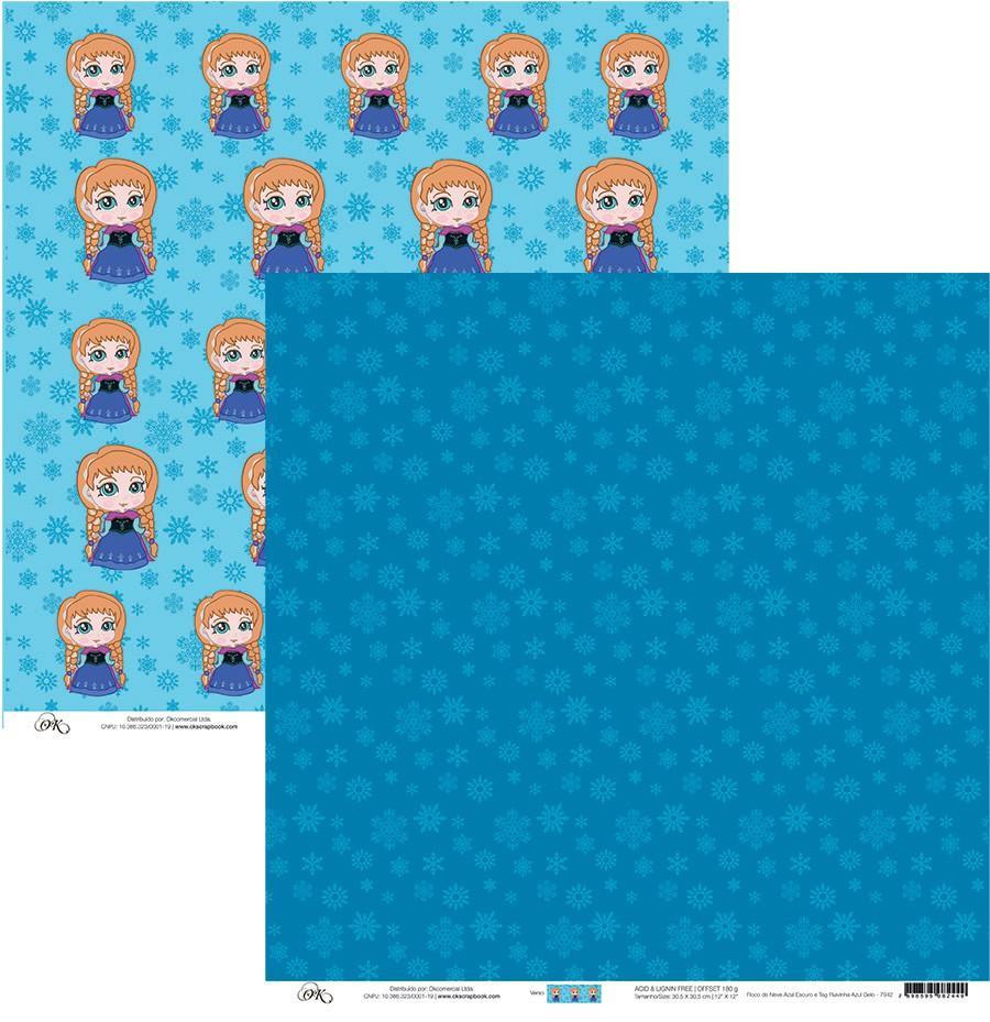 Papel Floco de Neve/Ruivinha Gelo Okscrapbook - 7942