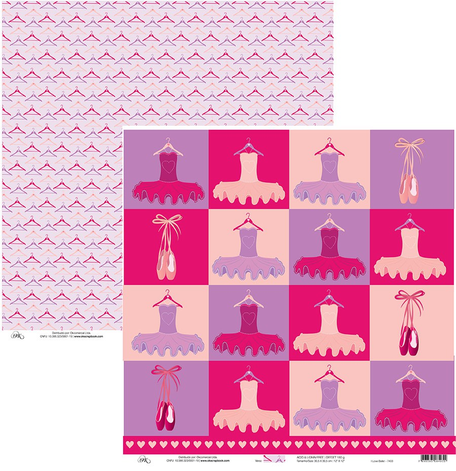 Papel I Love Ballet Okscrapbook - 7403