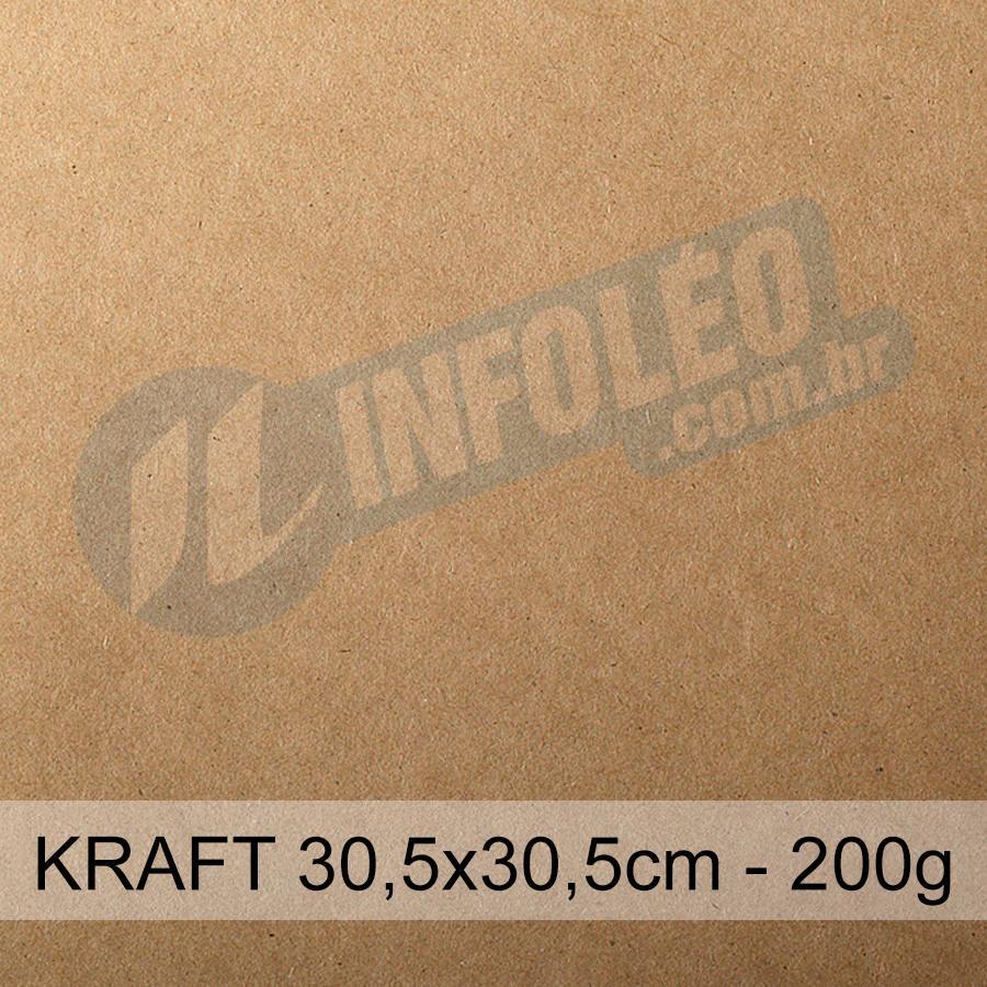 Papel Kraft Puro 200g 30x30cm - Unitário