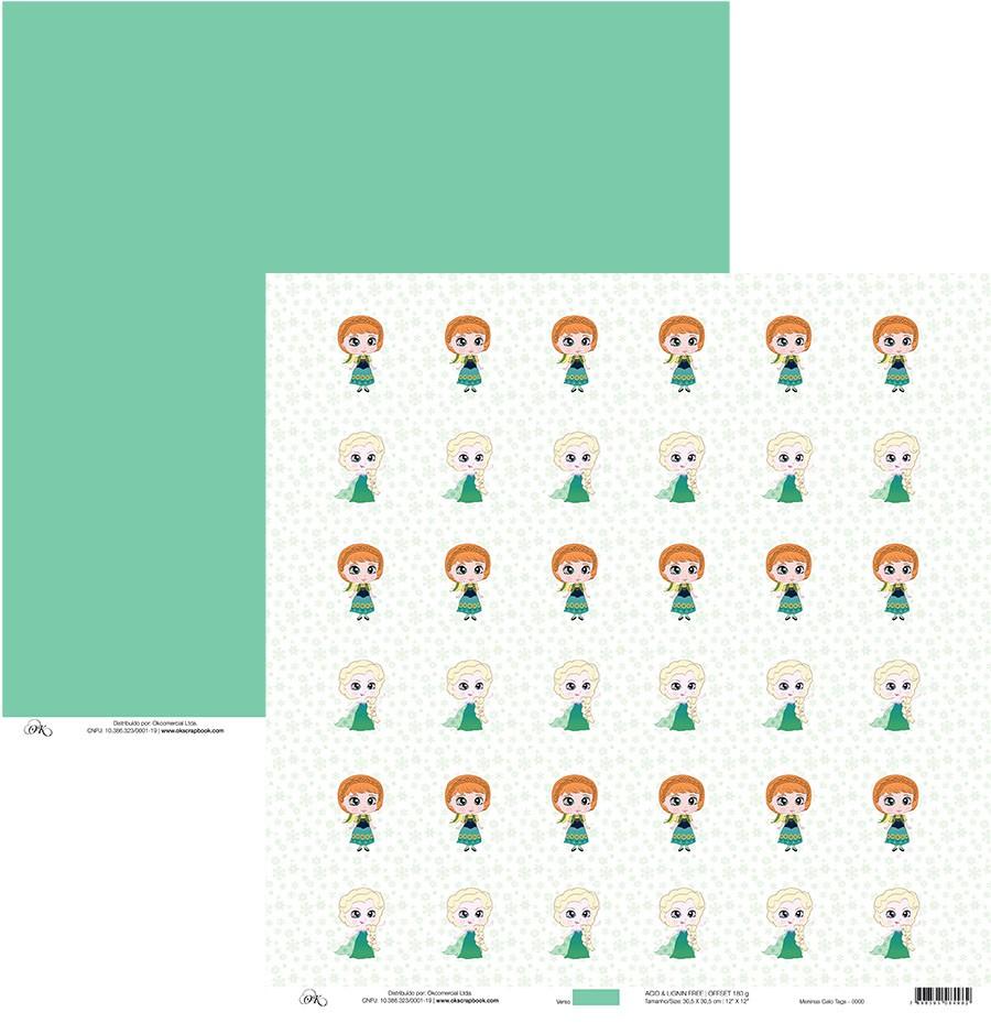 Papel Meninas do Gelo Tags (Frozen 2) Okscrapbook - 7954