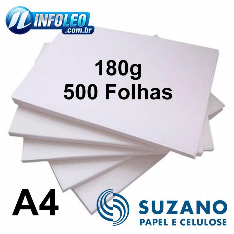 Papel Offset Suzano 180 gramas A4 com 500 Folhas