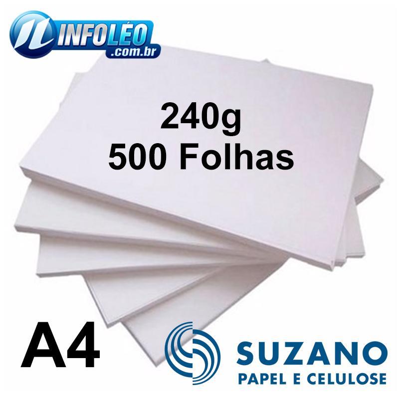 Papel Offset Suzano 240 gramas A4 com 500 Folhas