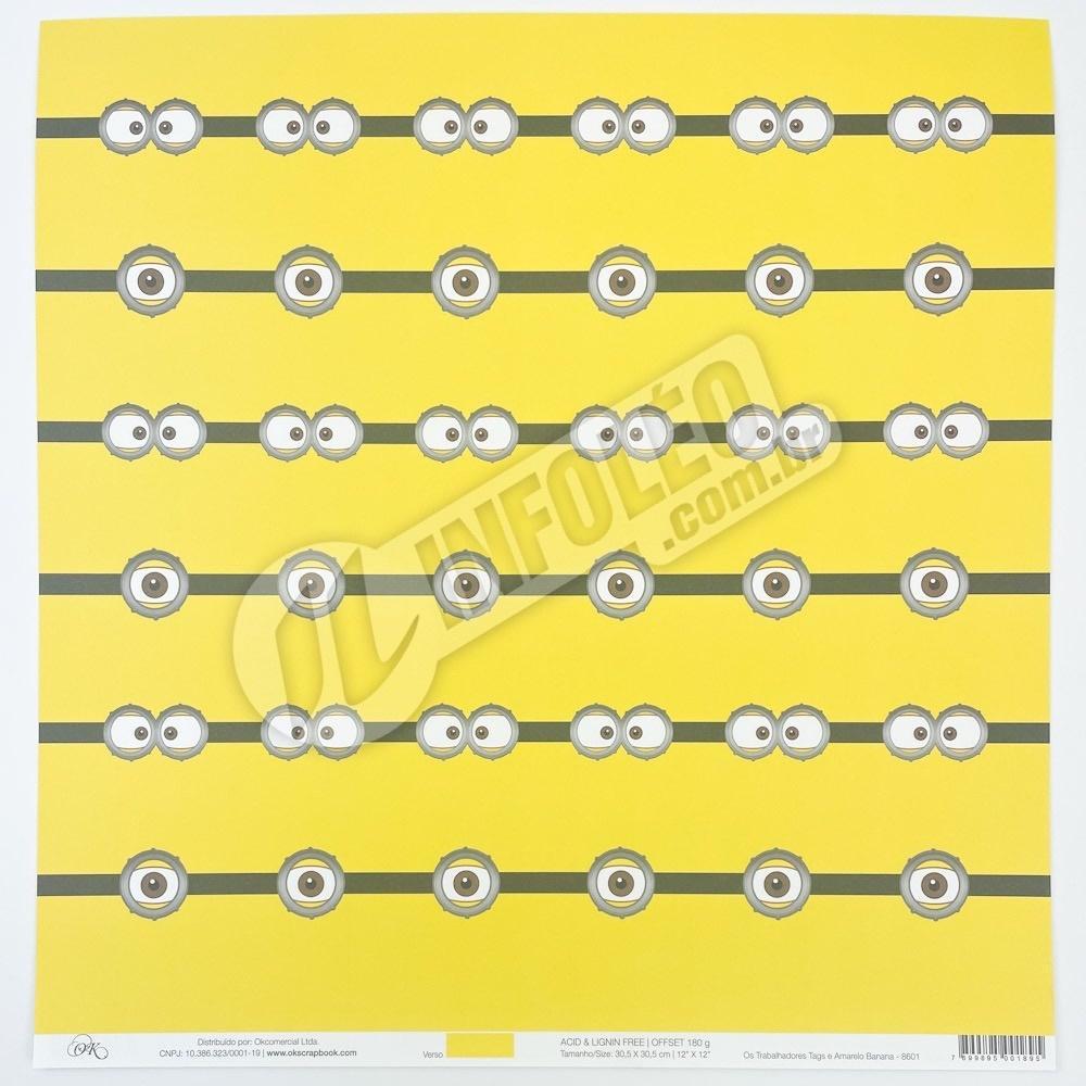 Papel Os Trabalhadores Tags (Minions) Okscrapbook - 8601