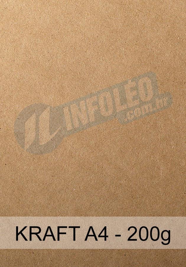 Papel para Scrapbook Kraft A4 200 gramas