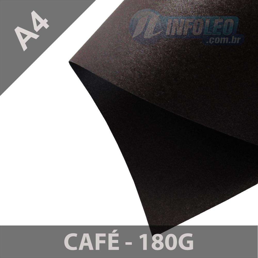 Papel Pérola Café 180g A4 - 10 Folhas