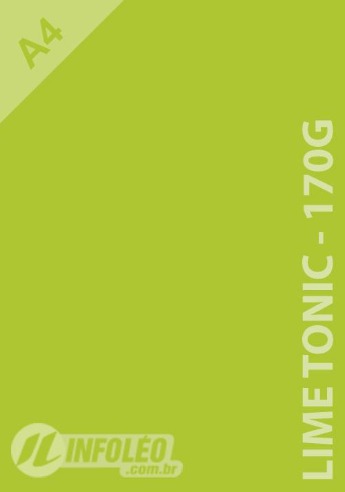 Papel Popset A4 170g Lime Tonic