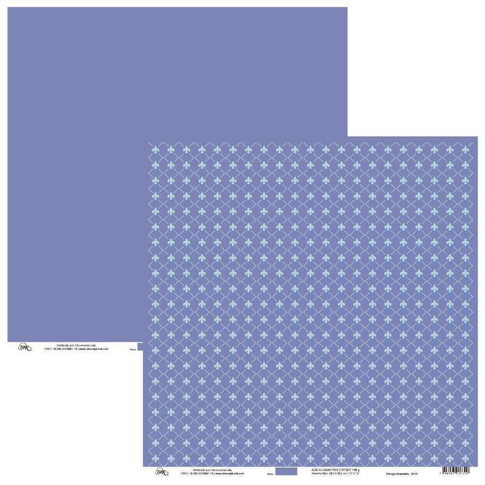 Papel Príncipe Ornamento Okscrapbook - 9110