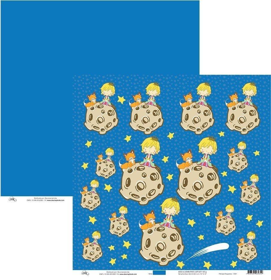 Papel Príncipe Pequenino Okscrapbook - 7301