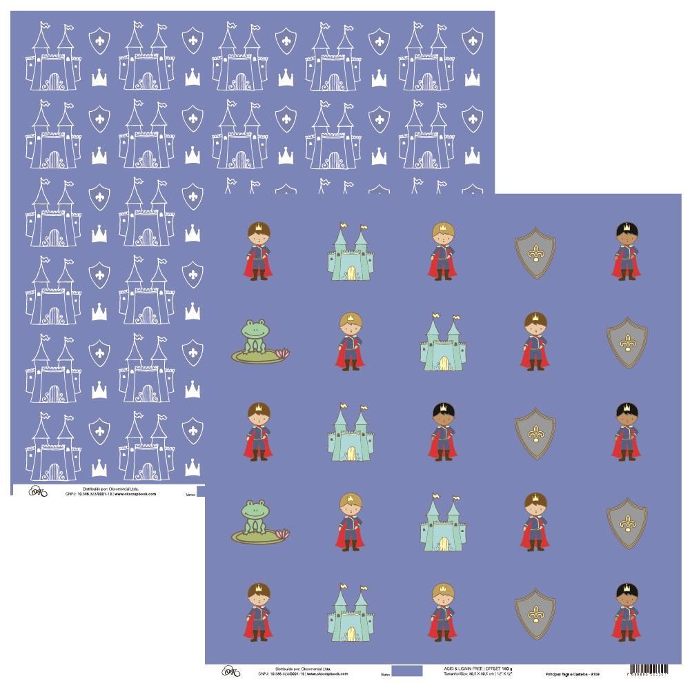 Papel Príncipes Tags e Castelos Okscrapbook - 9109