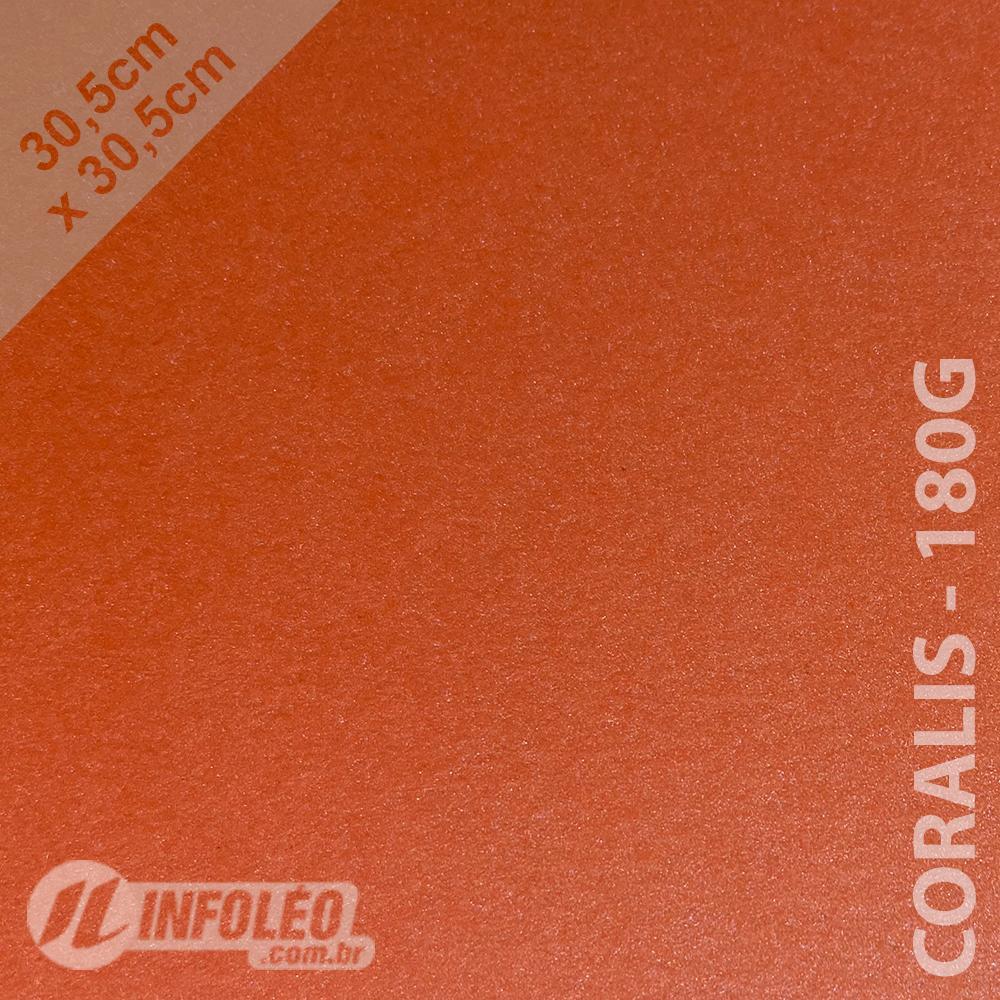 Papel Relux Coralis (Coral) 30x30cm 180 gramas - Unidade