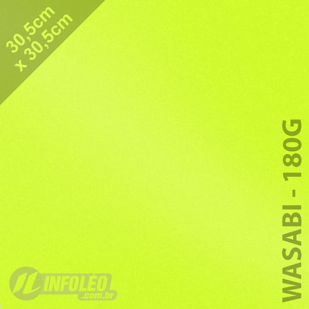 Papel Relux Intense Wasabi 30x30cm 180 gramas - Unidade