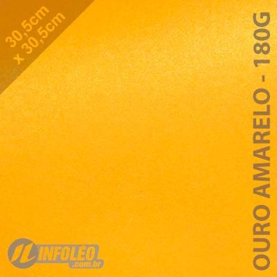 Papel Relux Ouro Amarelo 30x30cm 180 gramas - Unidade